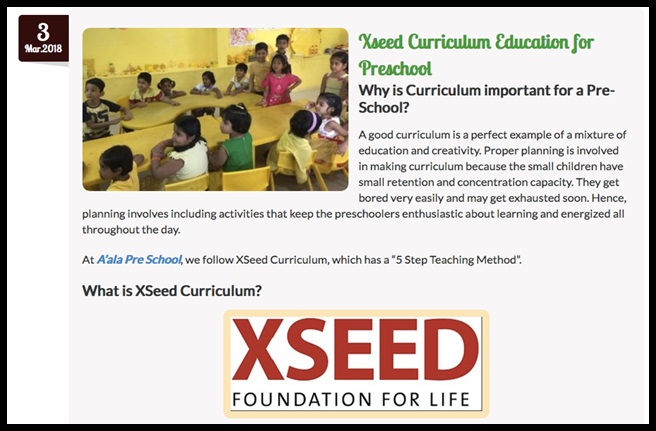 xseed education preschool