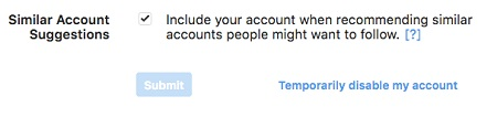 Temporarily disable my account