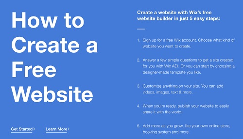 creating free website in wix
