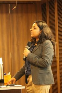 Sirisha Inapurapu Founder at Branding by Pixels giving a talk on Digital Marketing